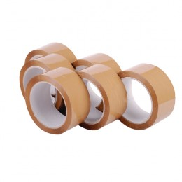 Polypropylene Packaging Tape 48MMX66m Brown [Pack of 6]