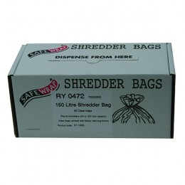 Safewrap Shredder Bags 150 Litre [Pack of 50]