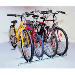 Cycle Rack 4 Bike Capacity Aluminium