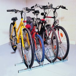 Cycle Rack 3 Bike Capacity Aluminium