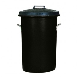 Bin with Lid and Handles 85 Litre Black
