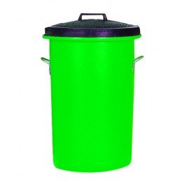 Bin with Lid and Handles 85 Litre Green