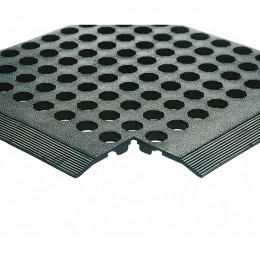 Rubber Worksafe Mat Black