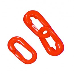 10 Barrier Chain Connectors Red