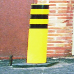 Yellow Steel Safety Bollard