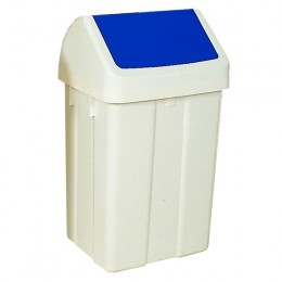 50 Litre Swing Bin White and Blue