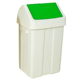 50 Litre Swing Bin White and Green