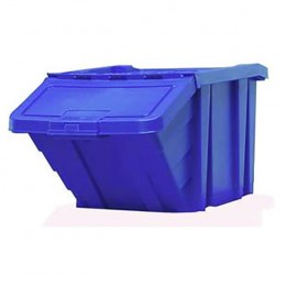 Heavy Duty Storage Bin and Lid Blue
