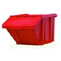 Heavy Duty Storage Bin with Lid Red