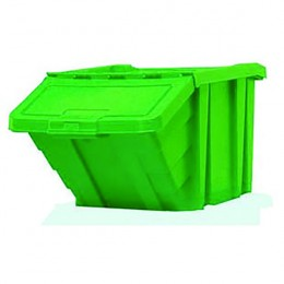 Heavy Duty Storage Bin with Lid Green