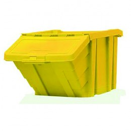 Heavy Duty Storage Bin with Lid Yellow