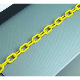 25m 8mm Thick Plastic Chain Yellow