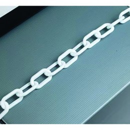 25m 8mm Thick Plastic Chain White