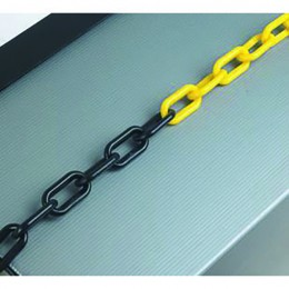 25m 8mm Thick Plastic Chain Black and Yellow