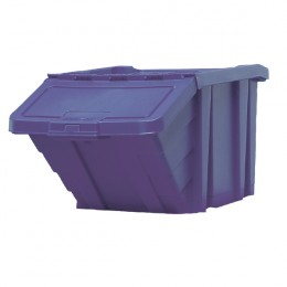 Recycle Storage Bin with Lid Blue