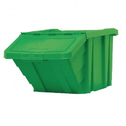 Recycle Storage Bin with Lid Green