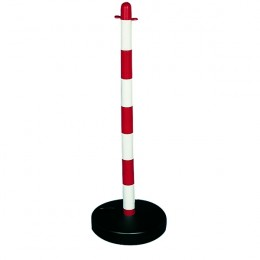 Freestanding Post with Base Red and White