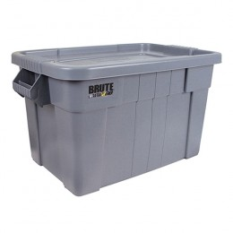 Brute Tote Box with Lid 75Litre Grey