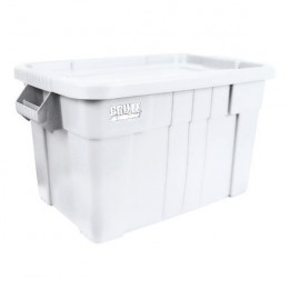 Brute Tote Box with Lid 75 Litre White
