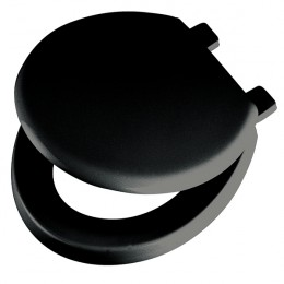 Black Emerald Toilet Seat and Lid Black