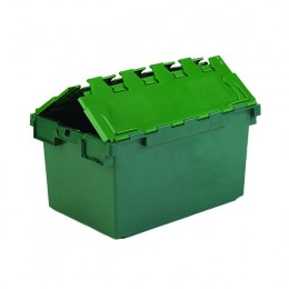 Plastic Container with Lid Green