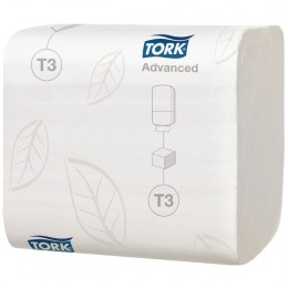 Tork Folded Toilet Tissue 2-Ply White [Pack of 36]