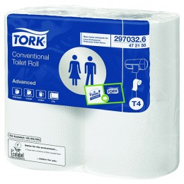 Tork Conventional Toilet Roll White 320 Sheet [Pack of 36]