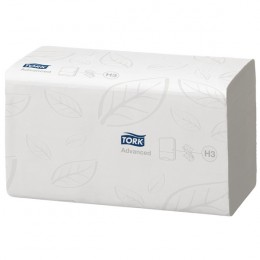 Tork Flushable Hand Towel Single Fold 2-Ply White [Pack of 15]