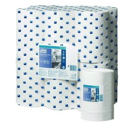 Tork White Wiping Paper Plus Mini Centrefeed Roll 2-Ply [Pack of 12]