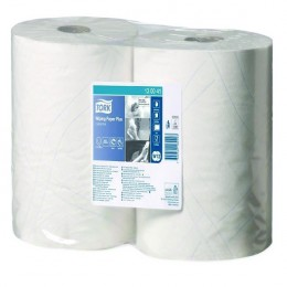 Tork White Wiping Paper Plus 750 Sheets 255m [Pack of 2]