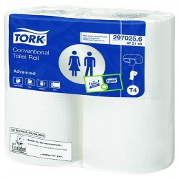 Tork Conventional Toilet Roll White 200 Sheet [Pack of 36]