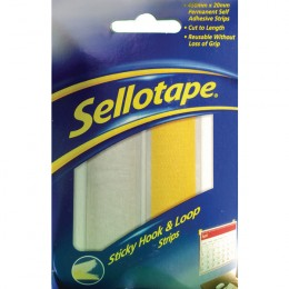 Sellotape Sticky Hook And Loop Strip