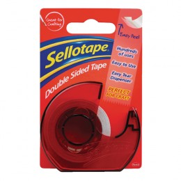 Sellotape Double Sided Tape and Dispenser 15mmx5m