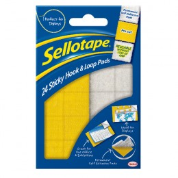 Sellotape Sticky Hook and Loop Pad [Wallet of 24]