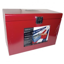 Value A4 File Box Red