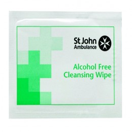 St John Ambulance Sterile Cleansing Wipes [Pack of 100]