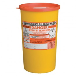 St John Ambulance Sharps Bin 5 Litre Yellow