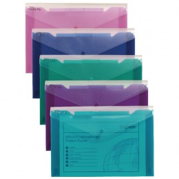 Snopake Polyfile Trio Electra A4 Assorted [Pack of 5]