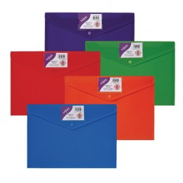 Snopake Polyfile ID Wallet A4 Rainbow [Pack of 5]