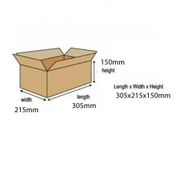 A4 Carton 305x215x150mm [Pack of 10]