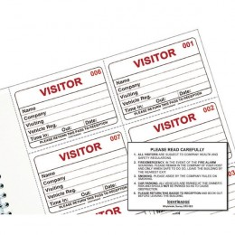 Identibadge Visitors Book Refill [Pack of 300]