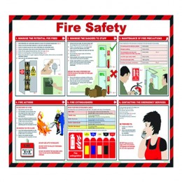 Health and Safety Poster Fire Safety 420x590mm