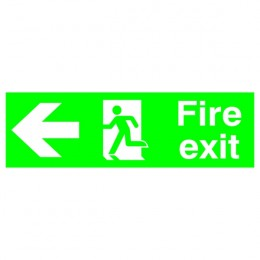 Safety Sign:Fire Exit Left 150x450mm PVC