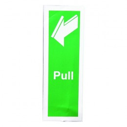 Safety Sign:Pull 150x50mm Self Adhesive