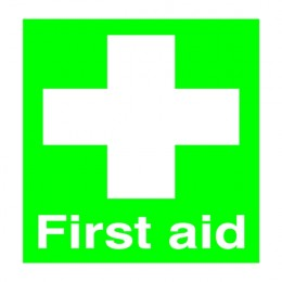 Safety Sign:First Aid 100x250mm PVC