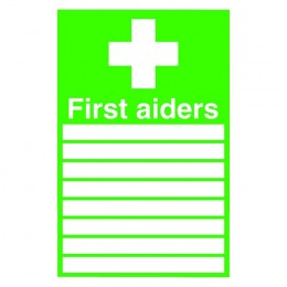 Safety Sign:First Aiders 300x200mm PVC