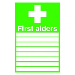 Safety Sign:First Aiders 300x200mm Self Adhesive
