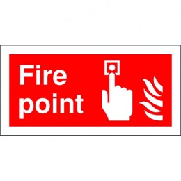 Fire Sign:Fire Point 100x200mm Self Adhesive