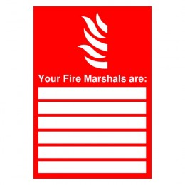 Fire Sign:Your Fire Marshall Are 297x210mm PVC