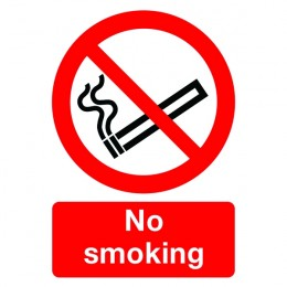 No Smoking Sign:No Smoking A4 Self Adhesive
